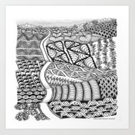 Zentangle Fields Of Drea… Art Print
