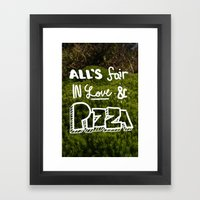 All's Fair... Framed Art Print