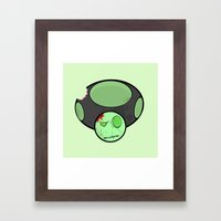 Zombie Toad Framed Art Print