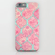 Moroccan Floral Lattice Arrangement in Pinks iPhone 6 Slim Case