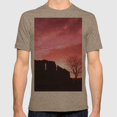Red Sky at Night Mens Fitted Tee Tri-Coffee SMALL