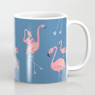 Flamingo Pattern Mug
