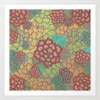 Floral Glitz Art Print