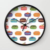 Sweet Macarons Wall Clock