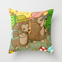 Afternoon Hike Throw Pillow