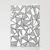 Abstraction Lines Black … Stationery Cards
