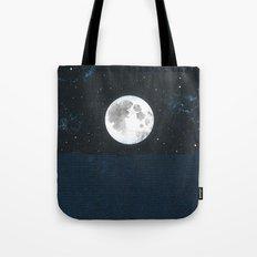Blue Moonscape Tote Bag
