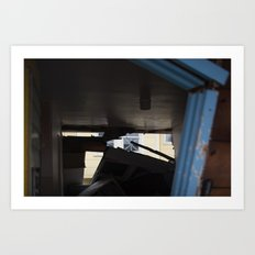 Blue Frame Motel, After Sandy Art Print