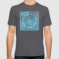 MANDALIKA INDIGO Mens Fitted Tee Asphalt SMALL
