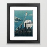 Rocket City Framed Art Print