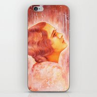 Heading for a fall (Vintage Portrait) iPhone & iPod Skin