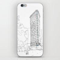 Flat Iron Building iPhone & iPod Skin