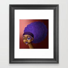 Violet Spirals Framed Art Print