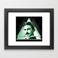 Tri-Tesla Framed Art Print