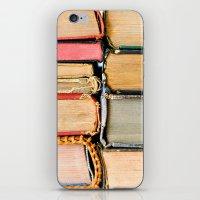 Vintage Books Stacks iPhone & iPod Skin