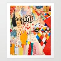 Wallpaper and Diamonds Part II Art Print