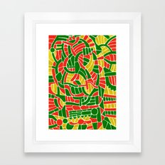 - christmas compression - Framed Art Print
