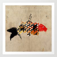 carp_koi_ink Art Print