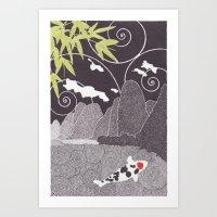 Asian Koi 2 Art Print