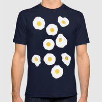 Egg pattern Mens Fitted Tee Navy SMALL