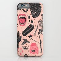 hand iPhone & iPod Cases featuring Whole Lotta Horror by Josh Ln