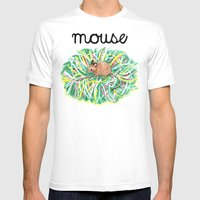 Theatre Mouse Mens Fitted Tee White SMALL