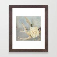 Girly Antlers Framed Art Print