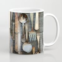 Vintage Silverware Mug
