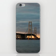Sunset at the Mackinac Bridge iPhone & iPod Skin