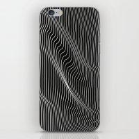 Minimal Curves Black iPhone & iPod Skin