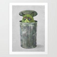 Grouchy Cat  Art Print