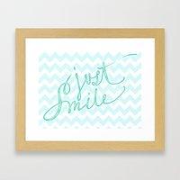 Just Smile - Hand Letter… Framed Art Print