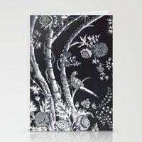 Peacock Tree Denim Stationery Cards