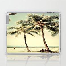 Retro Vintage Palm Tree with Hawaii Summer Sea Beach Laptop & iPad Skin