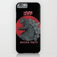 iPhone & iPod Case featuring Gojira Kaiju Alpha by pigboom el crapo