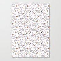 Heart Kids Pattern Canvas Print