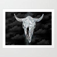 Bull Skull Art Print