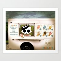 Ice Cream Delivery By NR… Art Print
