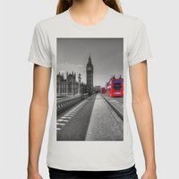 Big Ben, London Womens Fitted Tee Silver SMALL