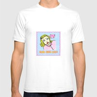 Drama Queen  Alert ! Mens Fitted Tee White SMALL
