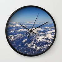 Colorado from Above Wall Clock