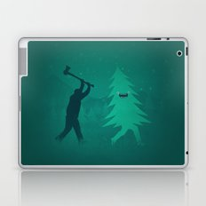 Funny Christmas Tree Hunted by lumberjack (Funny Humor) Laptop & iPad Skin