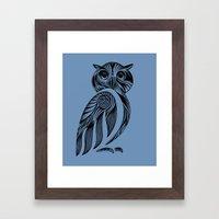 Tribal Owl Framed Art Print