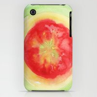 iPhone 3Gs & iPhone 3G Cases featuring Fresh Tomato by Kathleen Wong
