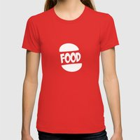 FOOD Logo Fun Generic Fo… Womens Fitted Tee Red SMALL