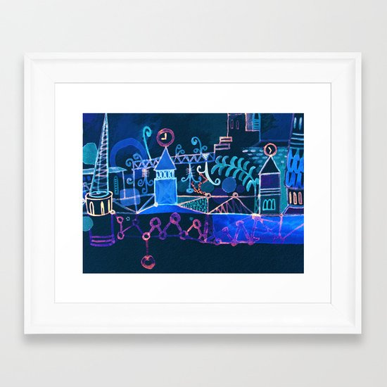 magic city Framed Art Print