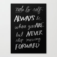Note to Self: Canvas Print