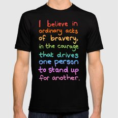 Ordinary Acts of Bravery - Divergent Quote SMALL Mens Fitted Tee Black