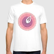 Pink Ballerina SMALL White Mens Fitted Tee