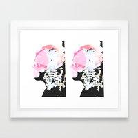 Rifting Seams Framed Art Print